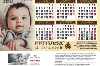 Calendario Pro-Vida de mesa 2017 – Apadrina un taxi